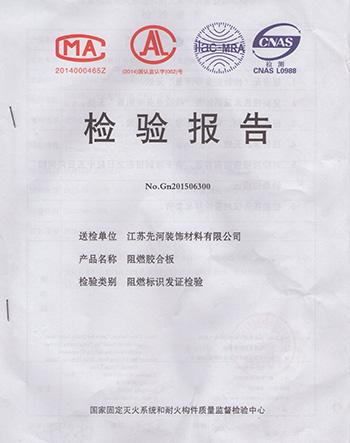中强家具检验报告-阻燃胶合板
