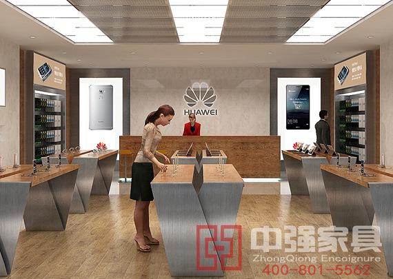 南京中强设计华为手机展柜展示柜