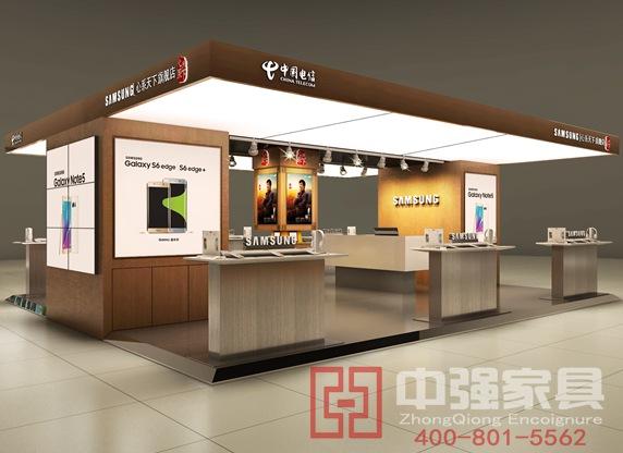 三星店中店中国电信手机展示柜