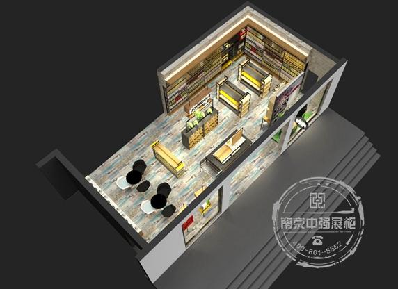 南通极乐堂手机展柜设计制作