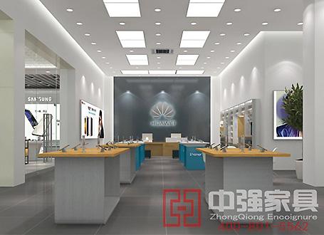 华为手机专卖店设计装修展柜制作