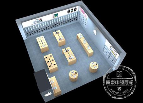 南京新一城苹果手机专卖店展柜设计制作