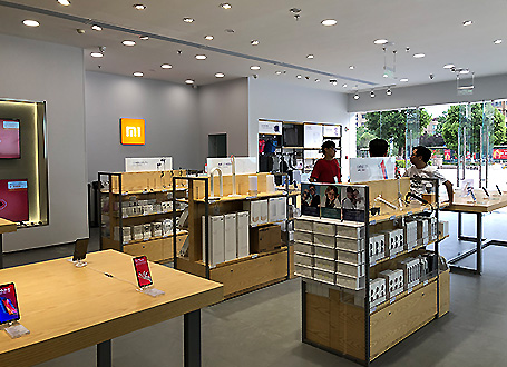 小米之家专卖店设计装修展柜定制