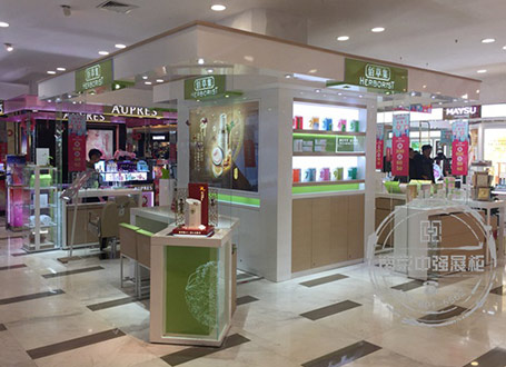南京地区化妆品佰草集展柜设计制作