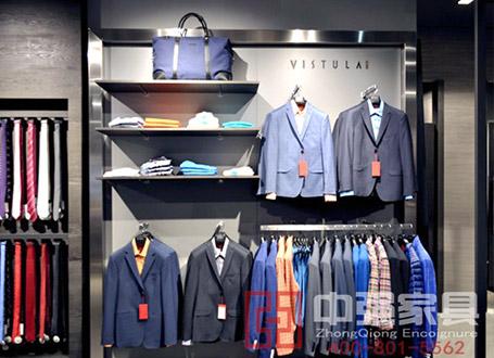 南京地区男装VISTULA展示柜展架展柜定做厂家
