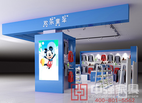 南京晓庄迪士尼服装店服装展柜