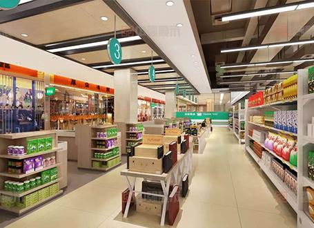 超市食品展示柜展示架制作